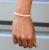 18K Gold Plated Gemstone L String Bracelet – Rose Quartz